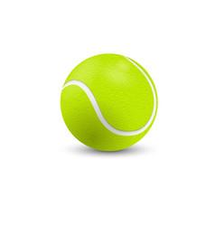 Tennis ball on white vector