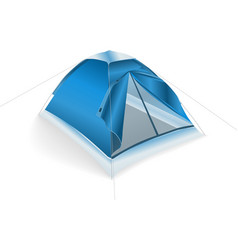 tent blue vector image