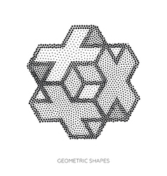 Three-dimensional geometric figures collected from vector