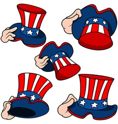 Uncle Sam Hat Set vector