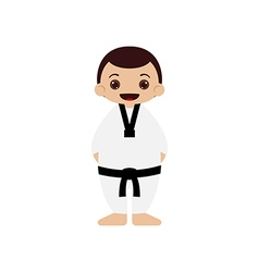 Cartoon taekwondo athlete vector image