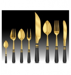 gold tableware's vector image vector image