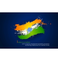 Grungy India Background in tricolor vector image