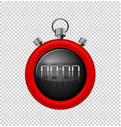 stopwatch with red border vector image