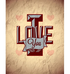 Vintage sign of love vector image vector image
