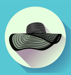 womans summer hat icon vector image