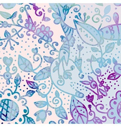 Abstract watercolor floral background vector image vector image