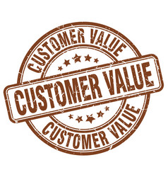 Customer value brown grunge stamp vector