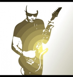 guitar player background vector image