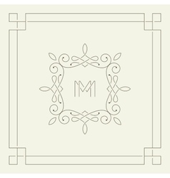 M monogram Frame template vector image vector image