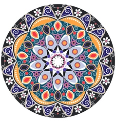 Mandala decoration isolated design element vector image