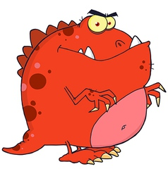 Red Dinosaur Cartoon Character vector image vector image