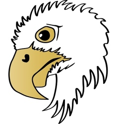 Eagle Head Profile vector image