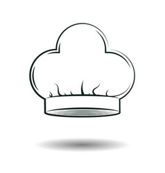 monochrome chef hat sign vector image