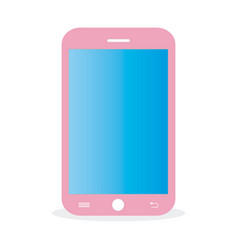 pink-mobile vector image vector image