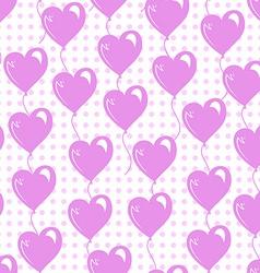 romantic balloons seamless vector image