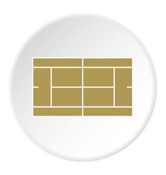 tennis court icon circle vector image vector image