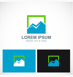 triangle mountain icon logo vector image