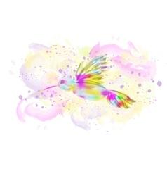 Watercolor bird vector image vector image