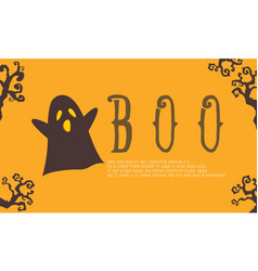cute ghost background for halloween vector image