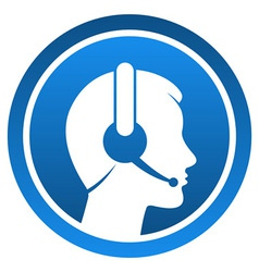 Headset Contact Icon vector image vector image
