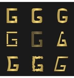 Letter G set vector image
