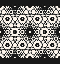 seamless pattern with different sized hexagons vector image