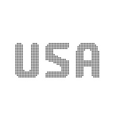 usa text from dots vector image vector image