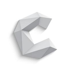 3d letter C on white vector image