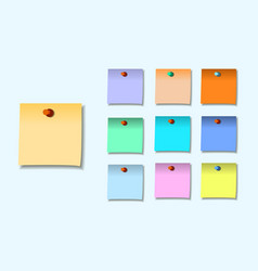 A colored set of sticky notes vector