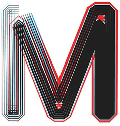Abstract font letter m vector