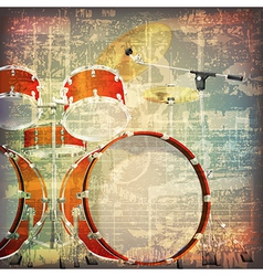 abstract grunge cracked music symbols vintage vector image