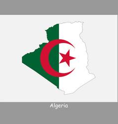 Algerian map flag vector