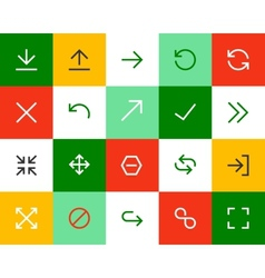 Arrows and signs Flat vector