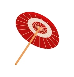 Asian parasol or umbrella icon isometric 3d style vector