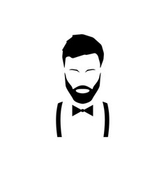 Avatar hipster with a beard vector