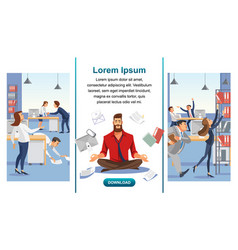 Balance in multitask office work web banner vector