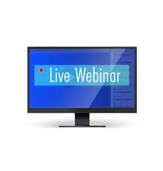 banner for live webinars computer monitor vector image