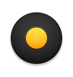 Black vintage vinyl record isolated on white vector