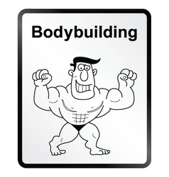 Bodybuilder Information Sign vector image