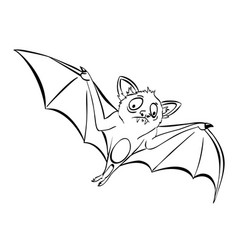 cartoon image of halloween bat vector image