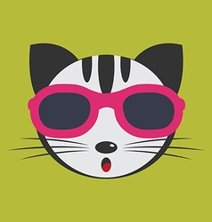 Cat glasses vector image