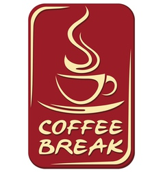 coffee break label vector image