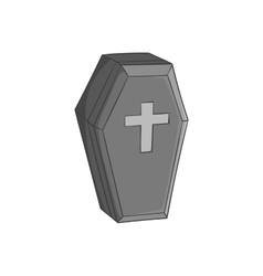 Coffin icon black monochrome style vector