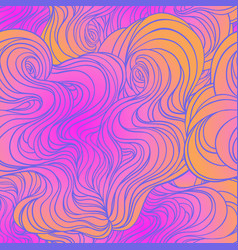 color abstract hand-drawn hair pattern vector image