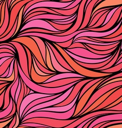 Color hand-drawing wave pink romantic background vector