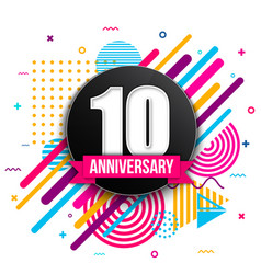 creative of anniversary logo vector image