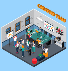 Creative team isometric vector