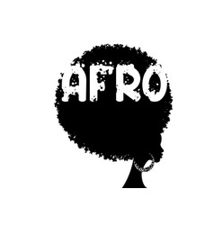curly afro hair portrait african women isolated vector image