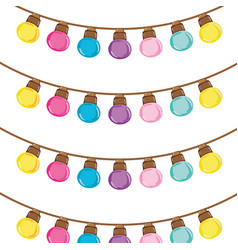 Cute bulb hanging decoration background vector